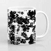 valentine Mugs featuring Valentine by Priscilla Moore