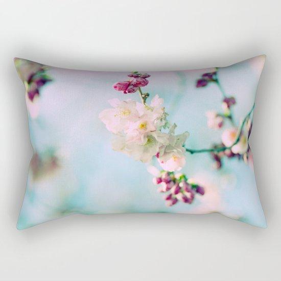 Cherry Blossoms pink Pastels Rectangular Pillow