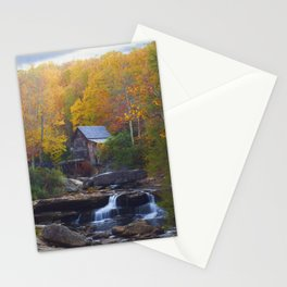 Glade Creek Mill in Autumn Stationery Cards