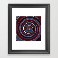 Re-Created Spin Painting (Midnight & Burgundy) by Robert S. Lee Framed Art Print