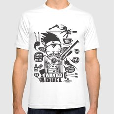 SORRY I MUST KILL YOU ! - DUEL Mens Fitted Tee MEDIUM White
