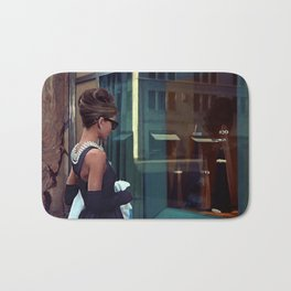 Audrey Hepburn #2 @ Breakfast at Tiffany's Bath Mat