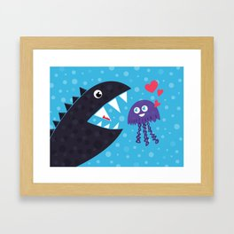 Impossible love Framed Art Print