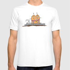 Mecha Kitty SMALL White Mens Fitted Tee
