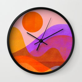 Abstraction_OCEAN_Beach_Wave_Minimalism_001 Wall Clock