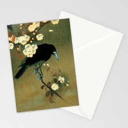 Ohara Koson - Top Quality Art - Crow and Blossom Stationery Cards
