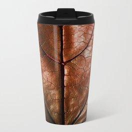 MACHO MANS ART OLD LEATHERY BROWN LEAF Travel Mug