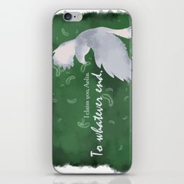 To Whatever End (Green) iPhone Skin