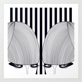 Gêmeas Close Art Print