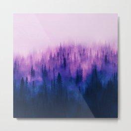 Pine Tree Fantasy Forest Landscape V.1 Metal Print