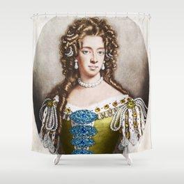 """Empress Consort"" Portrait Painting by Jeanpaul Ferro Shower Curtain"