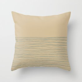 Hand Striped and Sea Throw Pillow