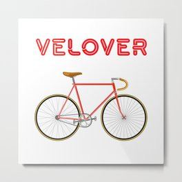 VeLover – Racer 2 – June 12th – 200th Birthday of the Bicycle Metal Print