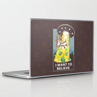 i want to believe Laptop & iPad Skins featuring i want to believe by Tatyana Soynikova