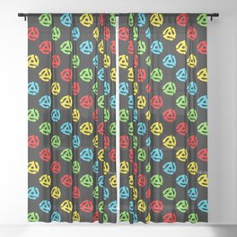 45 Spindle All Over Print Sheer Curtain