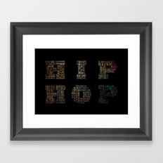 HIP HOP Framed Art Print