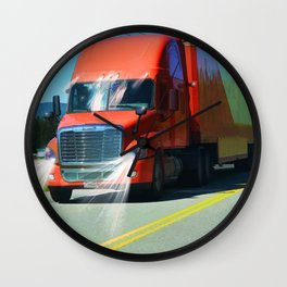 Big Red - Lorry Art for Truck-lovers and Truckers Wall Clock