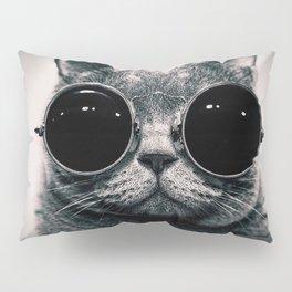 Cat with sunglasses Pillow Sham