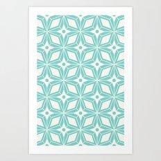 Starburst - Aqua Art Print