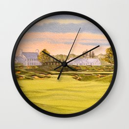 Whistling Straits Golf Course 9th And 18th Wall Clock