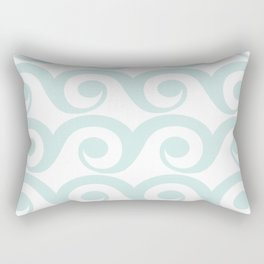 Minty Waves Rectangular Pillow