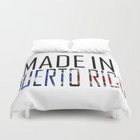 puerto rico Duvet Covers featuring Made In Puerto Rico by VirgoSpice