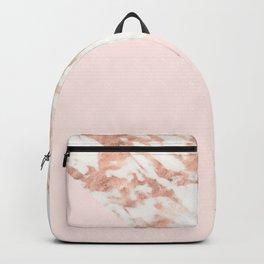 Rose gold blush aesthetic Backpack