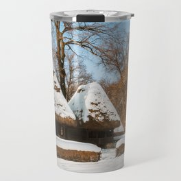 Season Greetings from a picturesque Romanian Village Travel Mug