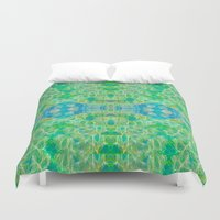 swim Duvet Covers featuring Swim by Ellecho