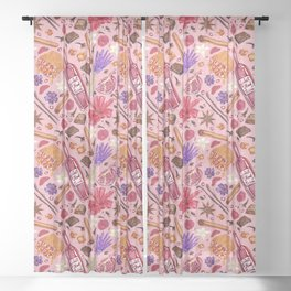 Love Potion Ingredients Sheer Curtain