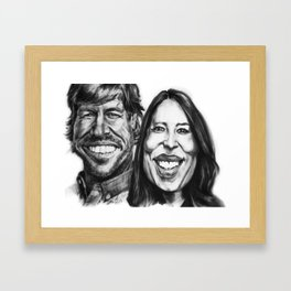 Chip & Joanna Gaines Caricature Framed Art Print