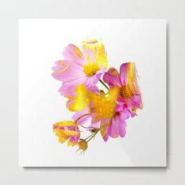 New Mixed Era -  Purple Faced Flower Metal Print