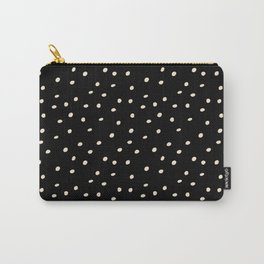Mudcloth Polka Dots in Black + Bone Carry-All Pouch