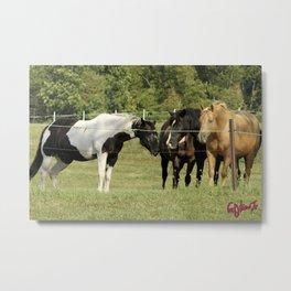 THE LOVE OF HORSES Metal Print