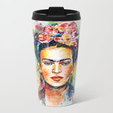 Frida Kahlo Metal Travel Mug