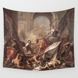 Jean-Marc Nattier - Perseus with Minerva Showing the Head of Medusa Wall Tapestry