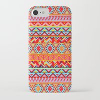 india iPhone & iPod Cases featuring India Style Pattern (Multicolor) by Diego Tirigall