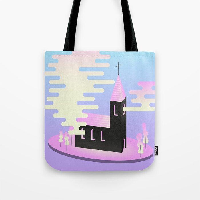 Smoky church Tote Bag