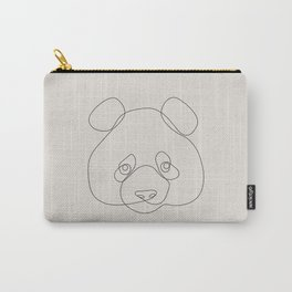 One Line Panda Carry-All Pouch