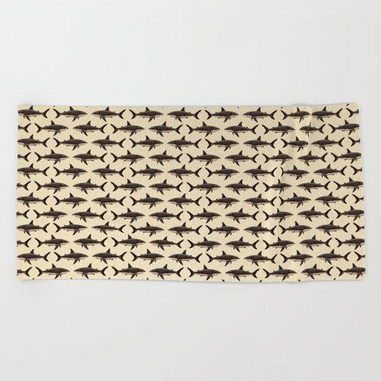 Pattern: Great White Shark ~ Vintage Beach Towel