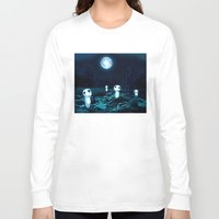 kodama Long Sleeve T-shirts featuring Princess Mononoke (Kodama) by pkarnold + The Cult Print Shop