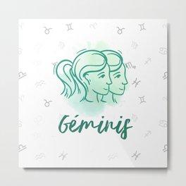 Zodiac signs collection - Gemini/Geminis Delvallediseno Metal Print