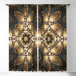 Golden Tribal Abstract Pattern Blackout Curtain