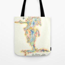 Go Home Lake - Coloured Map Tote Bag