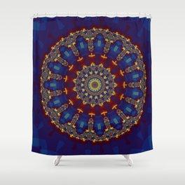 "Kaliedoscope/Mandala -  ""Stained Glass"" Shower Curtain"