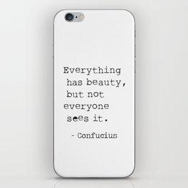 Confucius sayings iPhone Skin