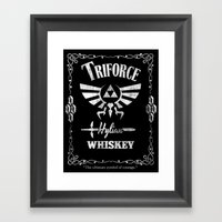 Triforce Whiskey Framed Art Print
