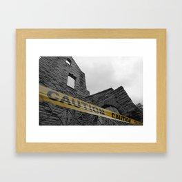 Caution Castle Framed Art Print