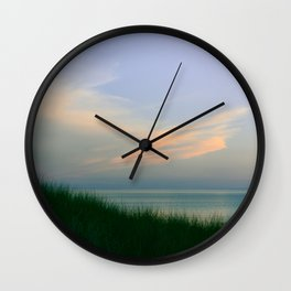 Poetic Evening at the Beach Wall Clock
