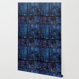 Van Gogh Trees & Underwood Indigo Turquoise Wallpaper